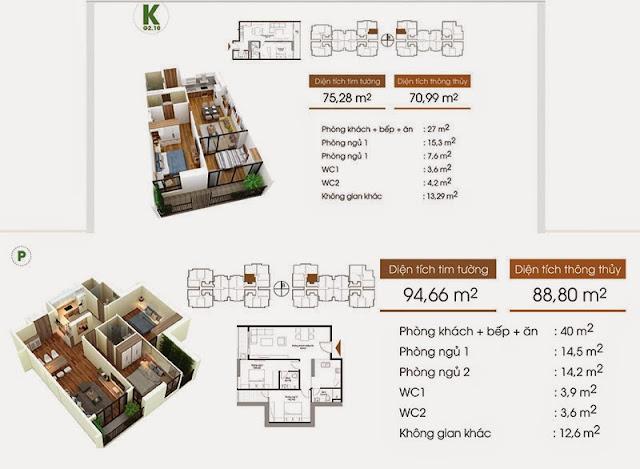 Thiết kế căn hộ K, P - Five Star Garden