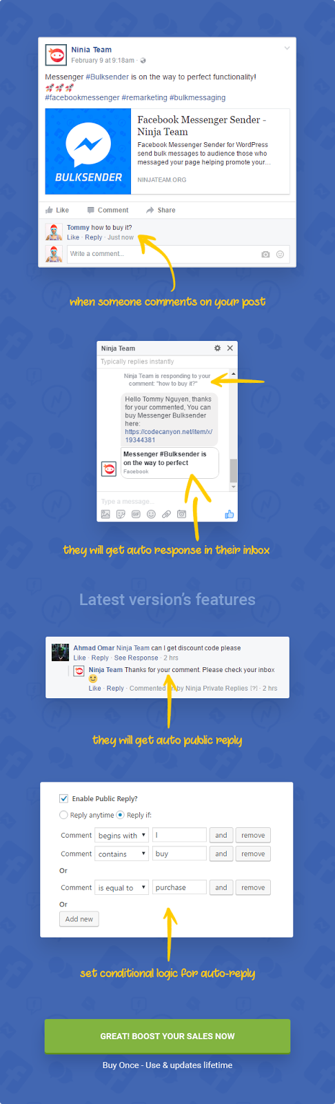 Auto Reply Facebook Messnger-Best Way Collection Customer Data
