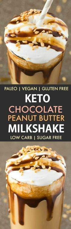 Healthy Low Carb Snickers Breakfast Shake