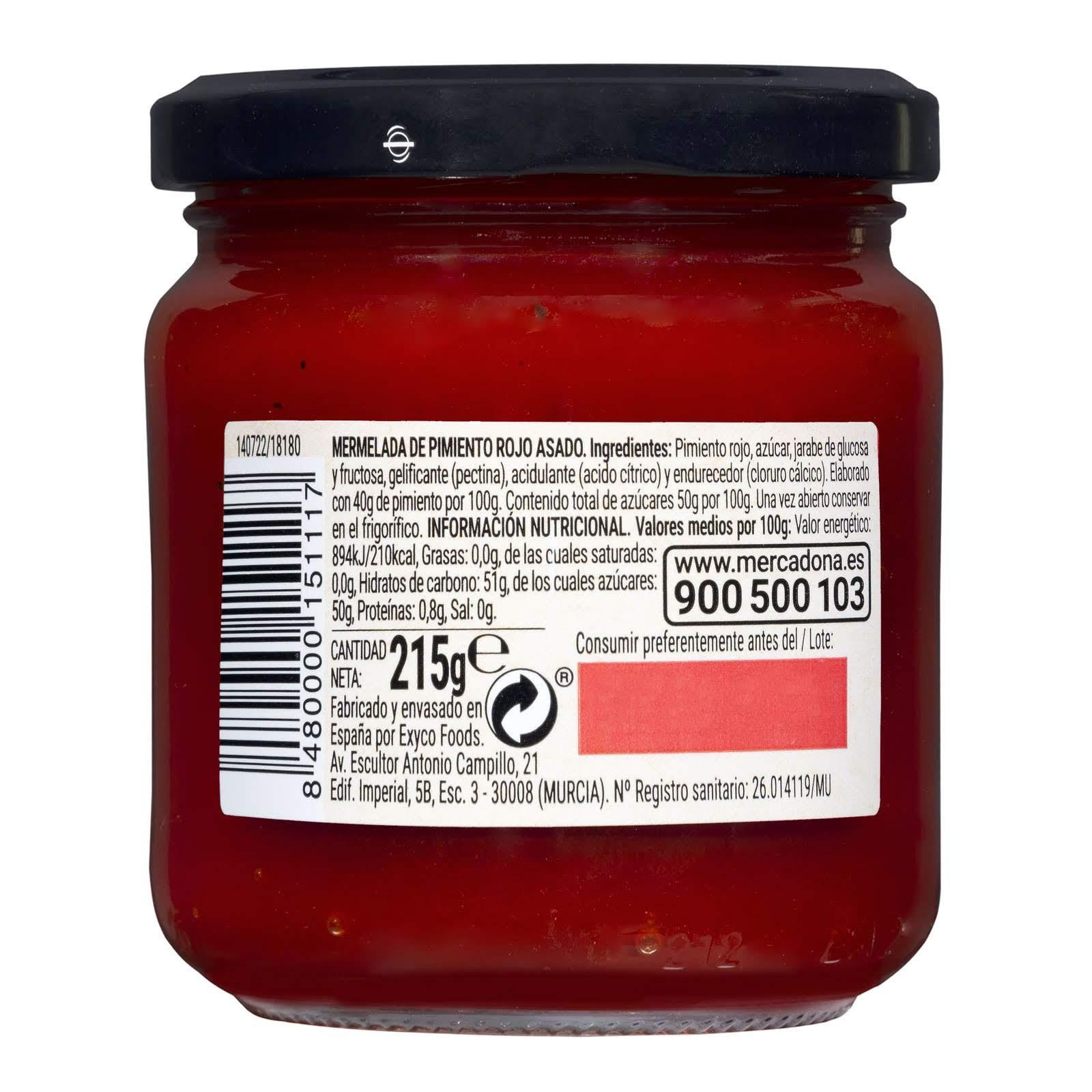 Mermelada de pimiento rojo Hacendado