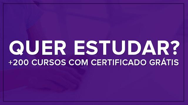 200 cursos online com certificado grátis