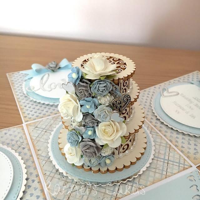 3D Cake Wedding Exploding Box | By Rachel