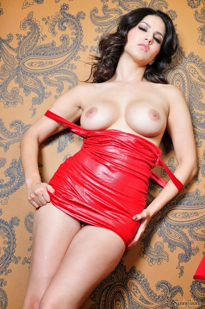Sunny Leone Red Dress  Red Lamp Photos