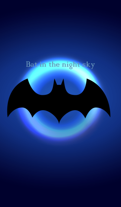 Bat in the night sky.