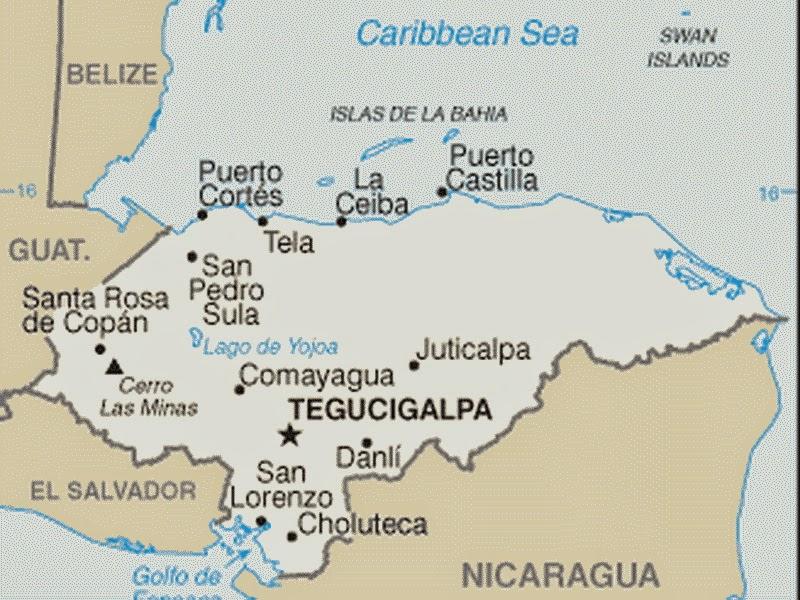 Peta Negara Honduras
