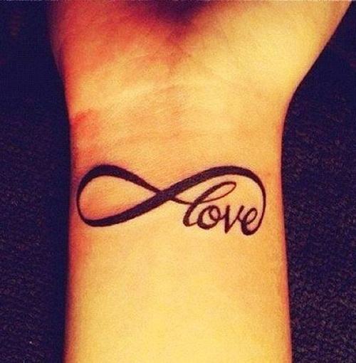 infinito nombre tatuaje