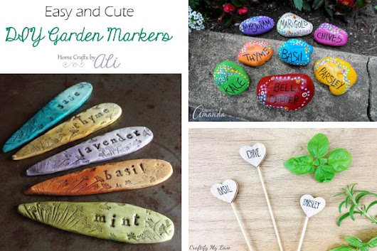 Cute and Easy DIY Garden Markers