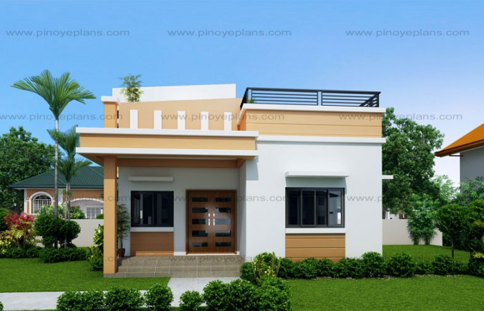 very attractive nu home design. Small and simple but beautiful house with roof deck designs for houses  concept One storey Free And Simple But Beautiful Home Blueprints Floor