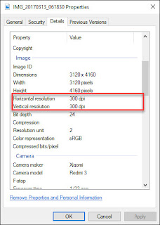 Cara Mudah Merubah Value DPI(Dots Per Inch) Gambar/Foto Tanpa Software