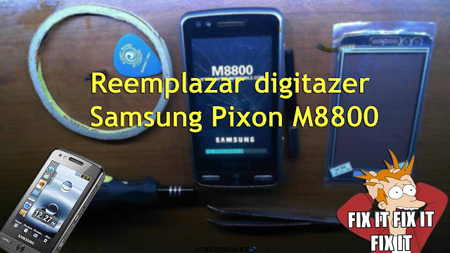m8800 mica tactil reemplazo