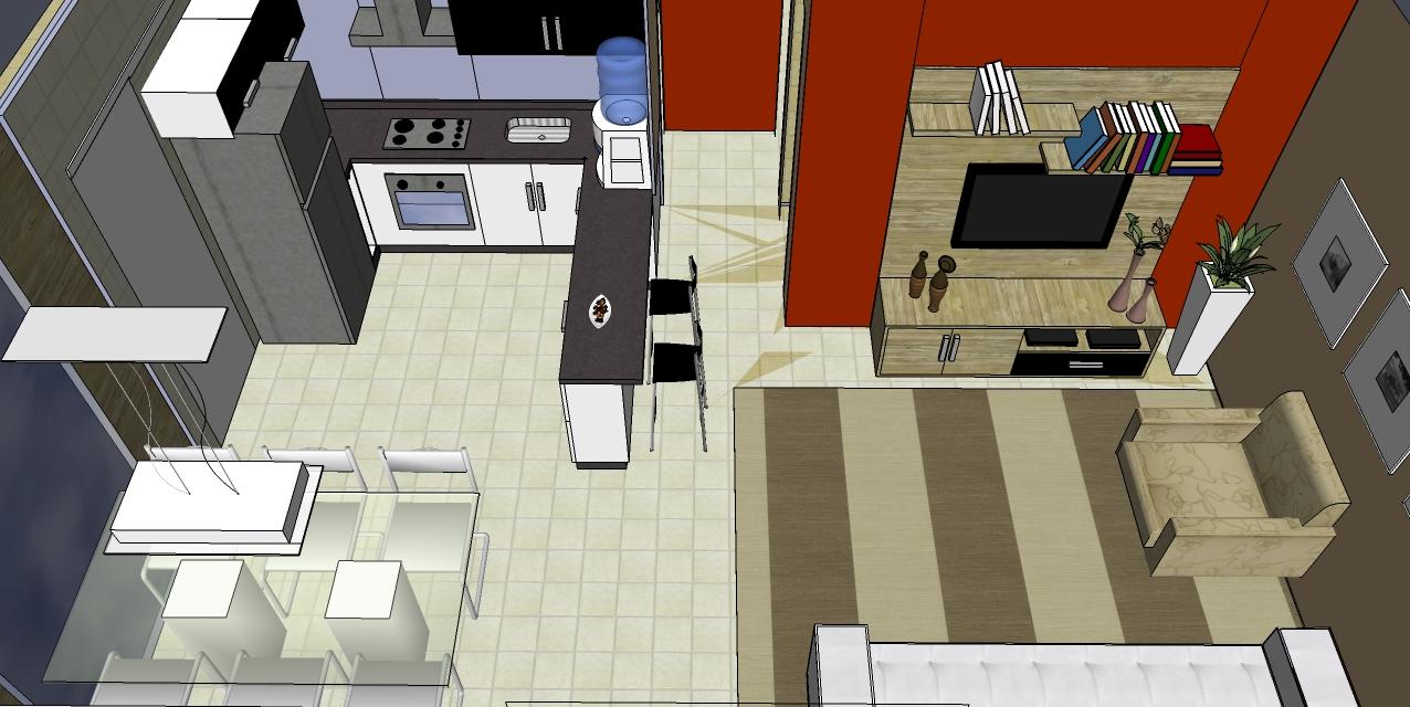 Cozinhas Conjugadas Com A Sala Cozinhas Com Ilha Ambientes  -> Quarto Sala E Cozinha Conjugadas