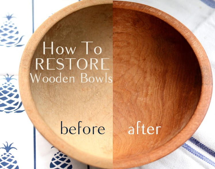 IRON & TWINE: How To Restore Wood Bowls