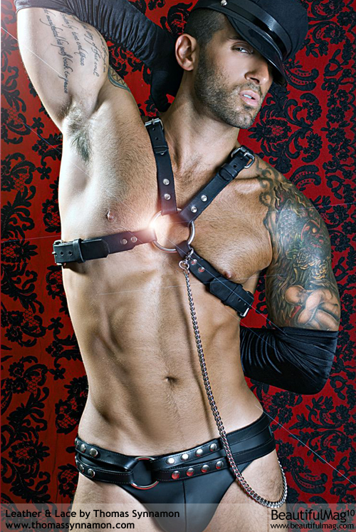 GAY LEATHER CHEST HARNESS