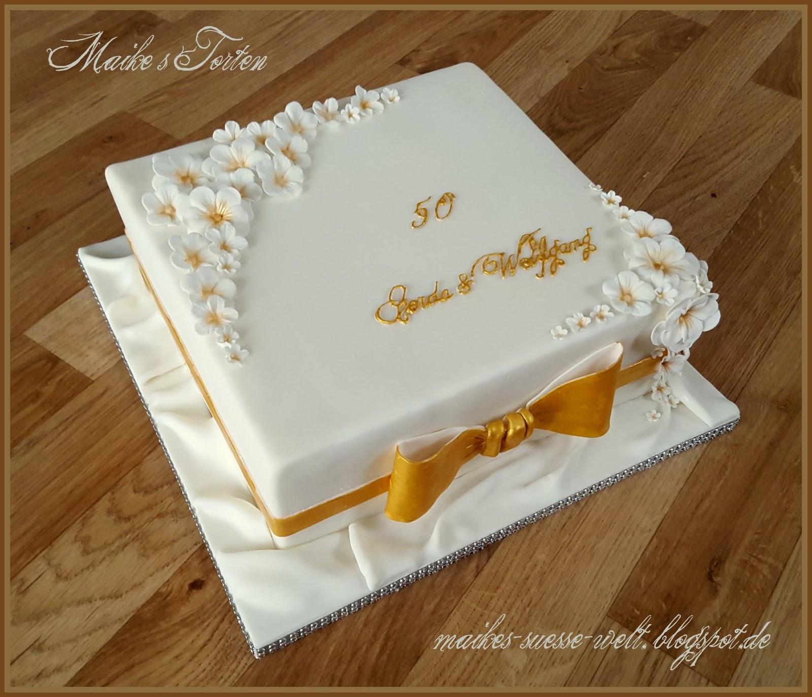 Torte Goldene Hochzeit Selber Machen Tolles Dekoration Die