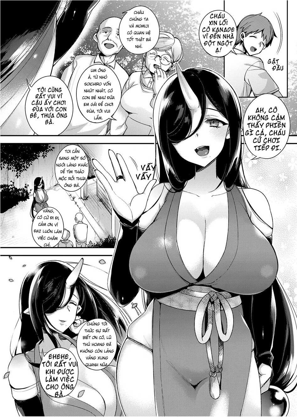Mẹ Con Quỷ Oni Dâm Đãng - Truyện Hentai