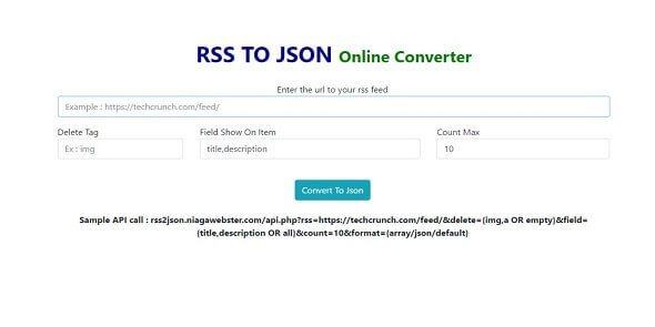 Download - RSS Para JSON Converter PHP Script
