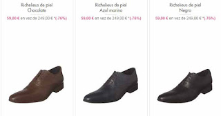 zapatos hombre richelieus en oferta