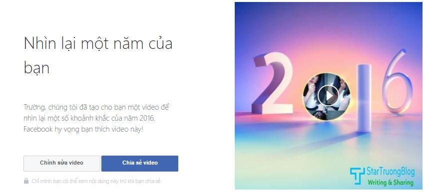 Nhìn lại một năm của bạn trên Facebook