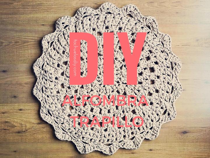 Tutorial y patrón gratuito para hacer tu misma una alfombra de trapillo redonda y dulce para cualquier estancia.