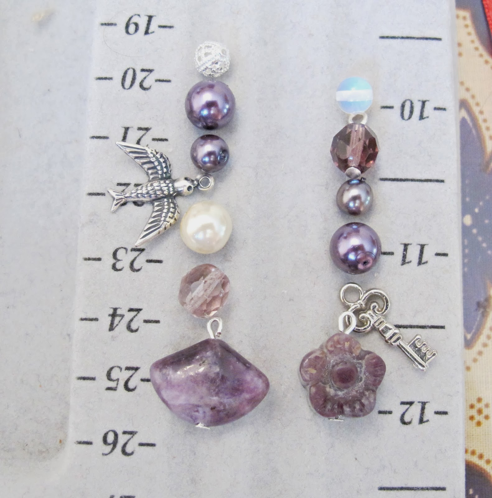 image diy tutorial lariat necklace dangles clusters amethyst purple