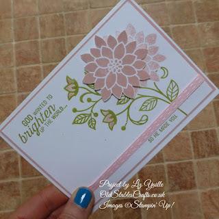 Flourishing Phrases Calypso Coral Card