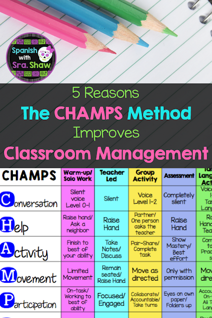 5 Reasons the CHAMPS Method Improves Classroom Management