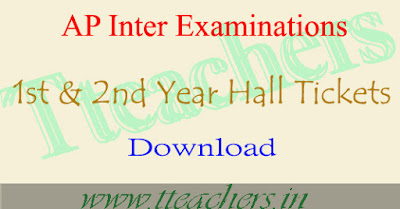 AP Intermediate hall tickets 2018 download 1st year 2nd year exam hall ticket
