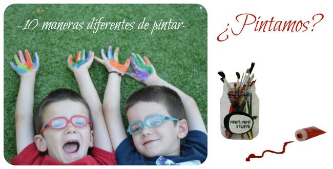 10 maneras diferentes y divertidas de pintar niños