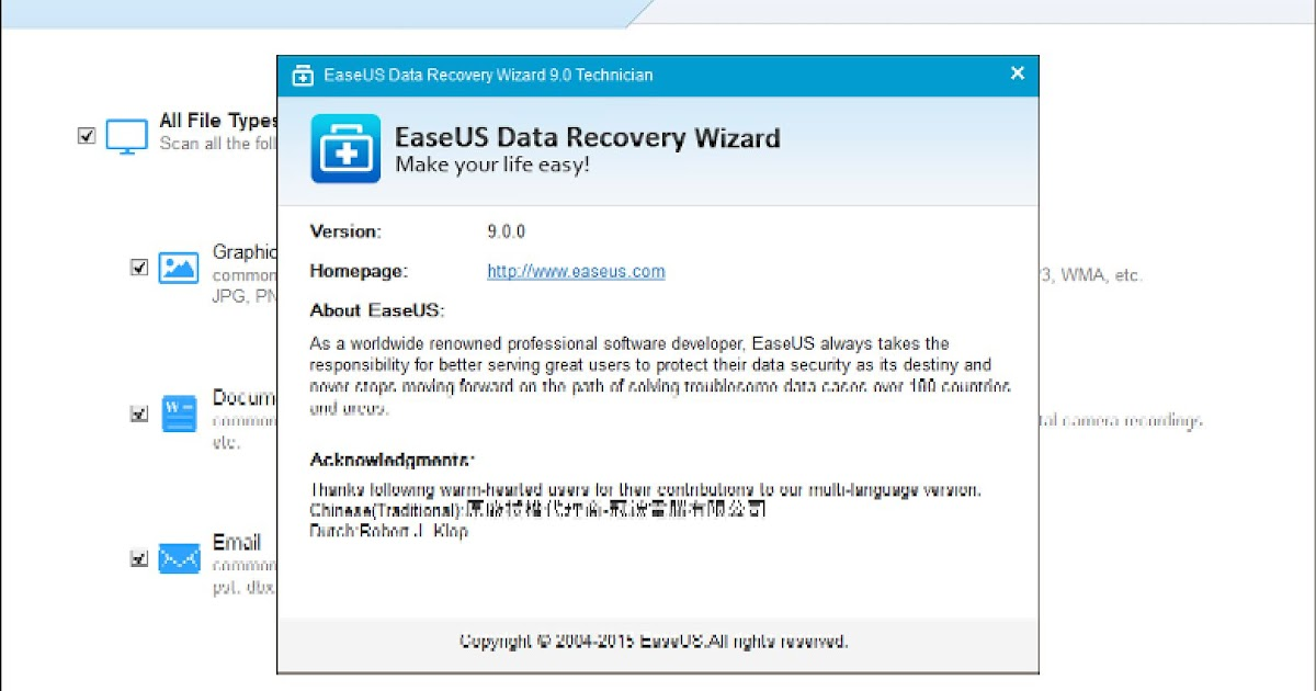 easy data recovery wizard
