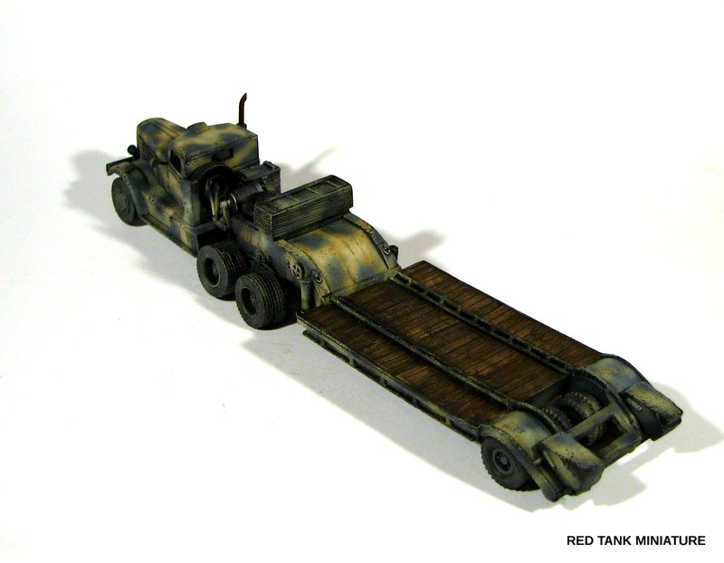 WWII TDW 005 Federal 604 tractor with 20-ton 1//72 resin kit