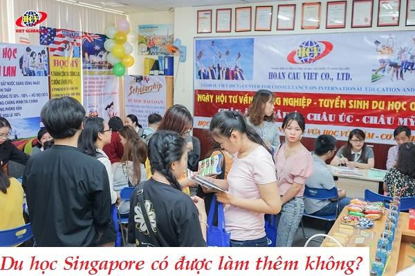 Du học singapore có được làm thêm không?