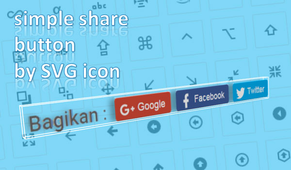 Mengganti Icon Simple Share Button Dengan Icon SVG On Javascript