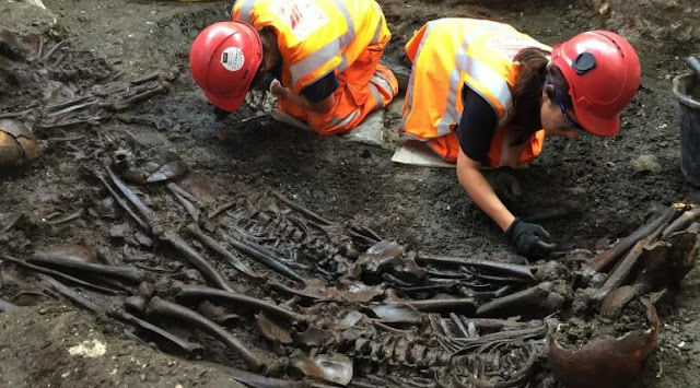 Crossrail dig reveals murky past of the New Churchyard burial ground