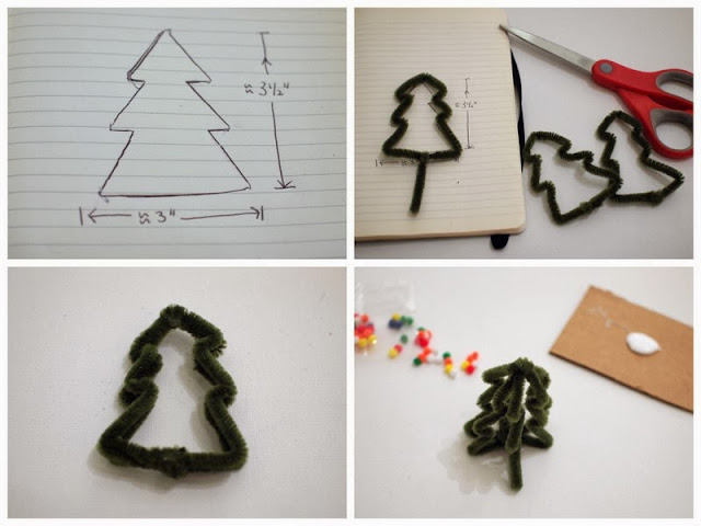 mini pipe cleaner trees tutorial