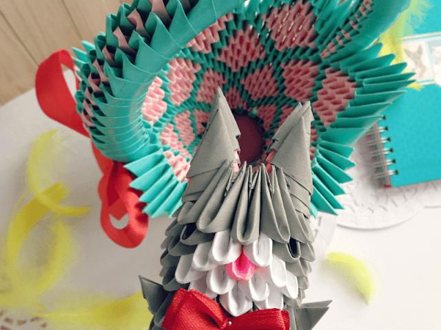 wymiana, mikaglo, origami modułowe, modular origami, origami, wielkanoc origami, easter origami, koszyczek, koszyk origami, pisanka origami, zając origami, zajac origami