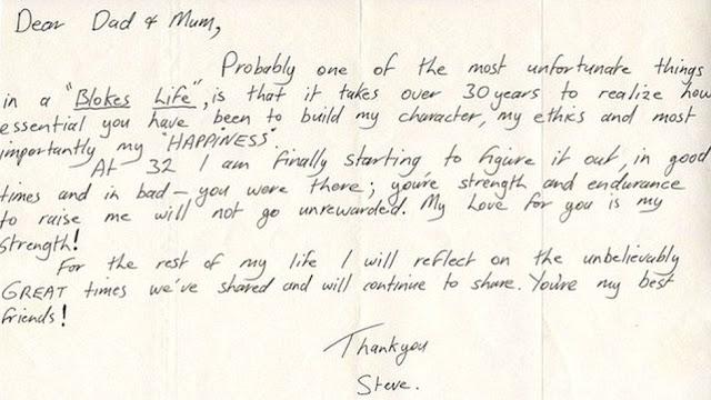 Steve Irwin Letter