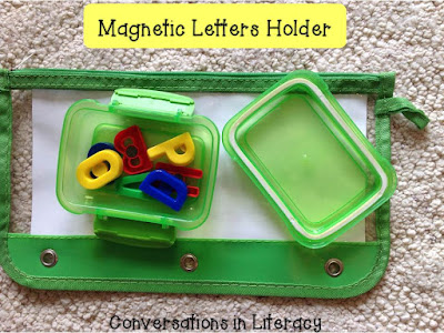 Magnetic Letter organization in plastic boxes