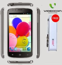 Videocon A54 Dual SIM Android Mobile Phone (1.2 GHz Quad Core, 1GB, 5.3″ qHD Display, 8MP Camera, Expand Memory 32GB) for Rs.6999 Only + FREE 2200 mAh Power Bank worth Rs.1250