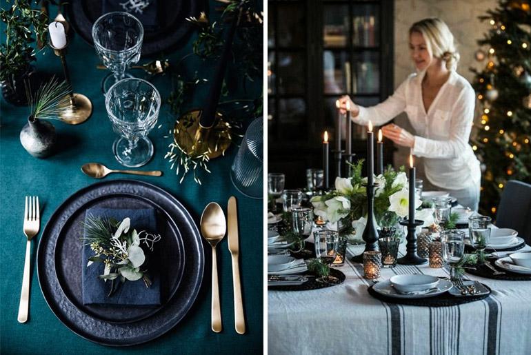 inspiración-mesas-navidad-oscuros-adornos-texturas-flores