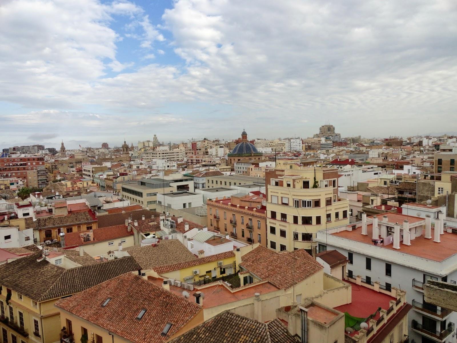 view torres de quart towers valencia spain city
