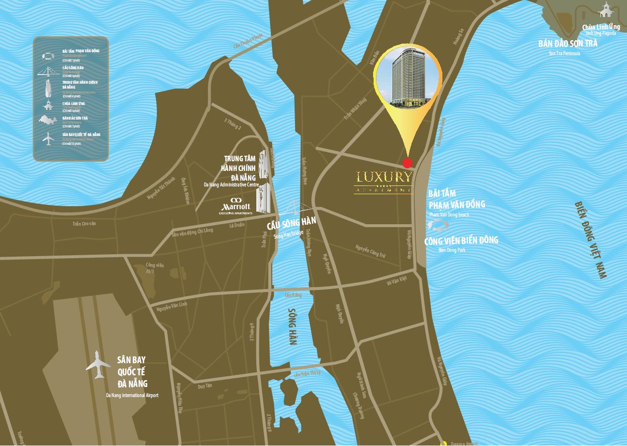 Vị trí dự án Luxury Apartment Đà Nẵng