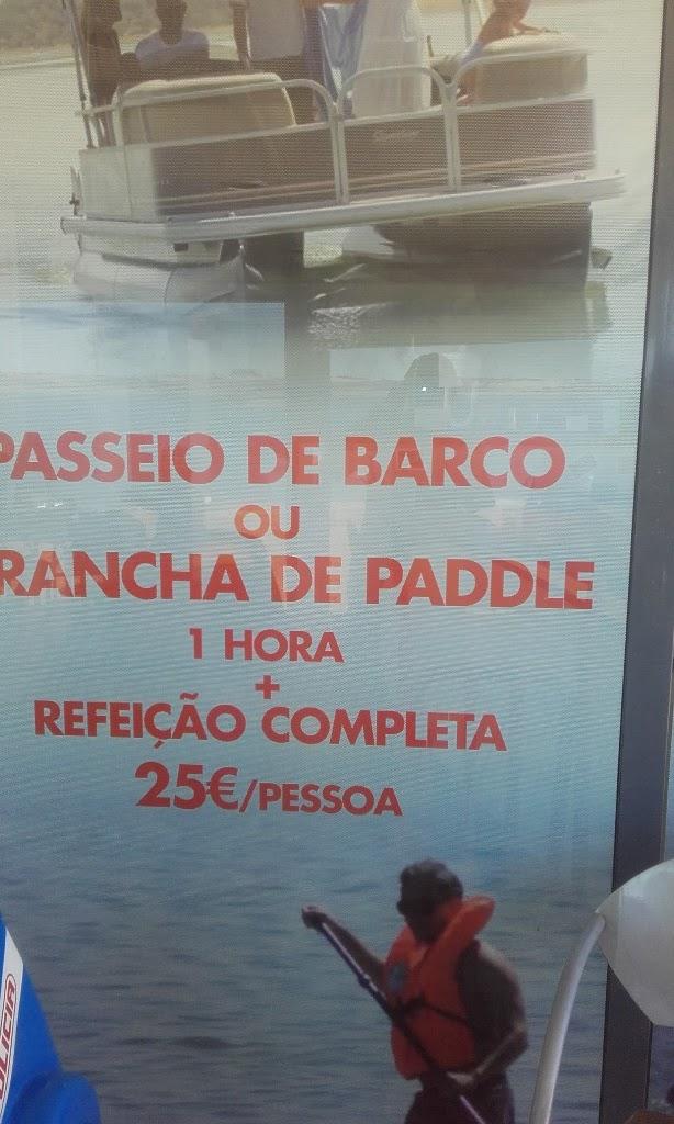 Passeios de barco ou prancha de paddle