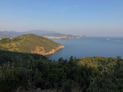 View from road to Bagnaia toward Portoferraio.