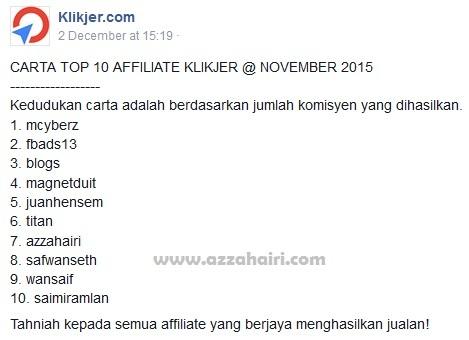 top klikjer november