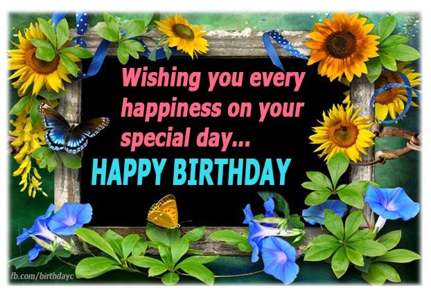 Flower birthday picture greeting message