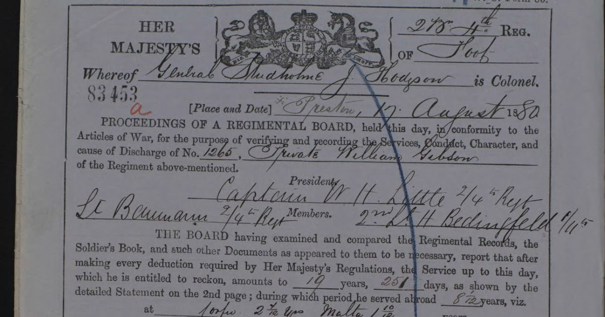 Mole's Genealogy Blog: Zulu War ancestors: service records