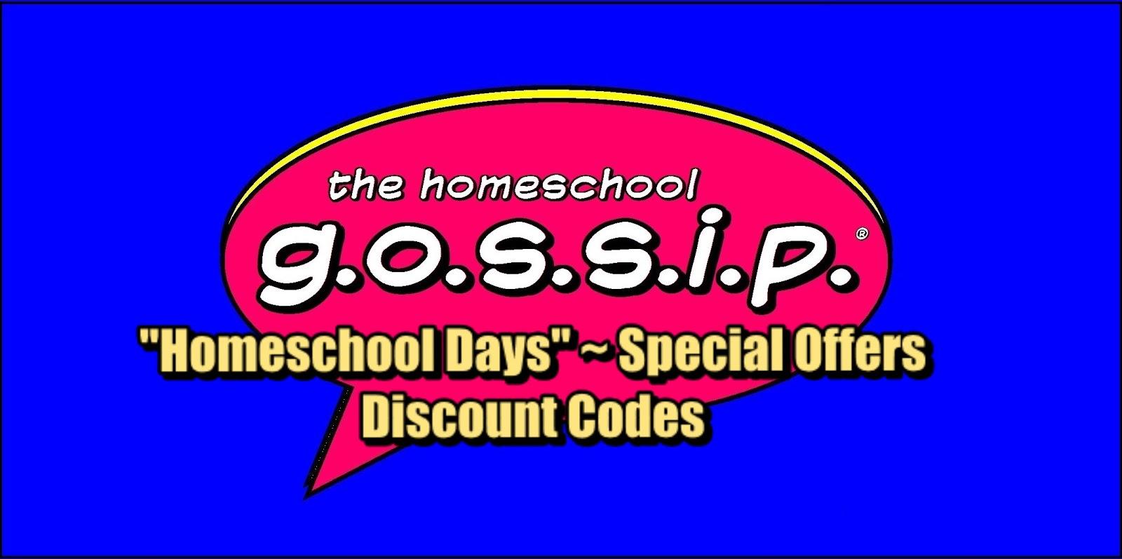 The homeschool gossip homeschool days discounts homeschool days discounts fandeluxe Choice Image