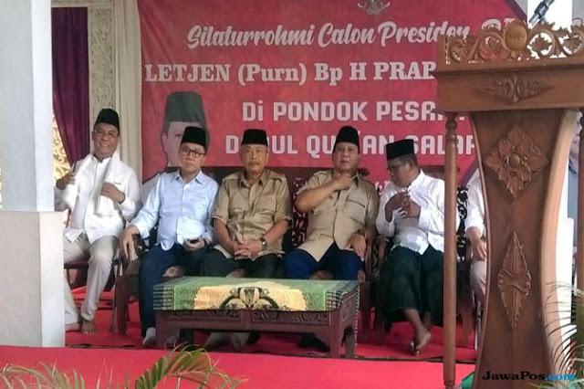 Safari ke Ponpes, Prabowo: Saya Tidak Mencari Dukungan