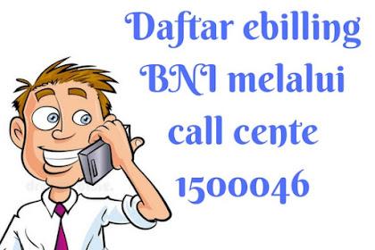 3 Cara Daftar Ebilling Kartu Kredit BNI, Bni Call, SMS, Email