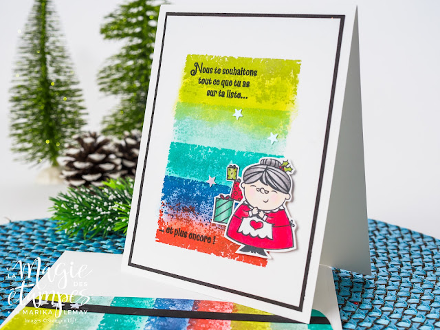 Carte de Noël Stampin' Up! faite avec le jeu d'étampes Timeless Texture